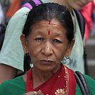 Nepali woman in Kathmandu by MichaelBr