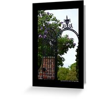 Planting Fields Arboretum State Historic Park Vintage Wrought Iron Gate Detail - Upper Brookville, New York Greeting Card