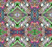 Neon Pinstripes 2 B by Karl Jacobson
