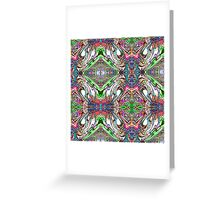 Neon Pinstripes 2 B Greeting Card