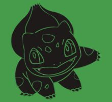 Bulbasaur Dark Kids Clothes