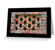 Red Brick Wall Detail - Planting Fields Arboretum State Historic Park - Upper Brookville, New York Greeting Card