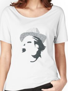 Typography Portrait Women's Relaxed Fit T-Shirt