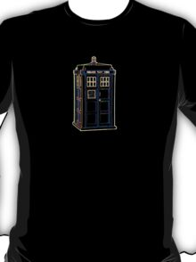 Bright Lightform Tardis T-Shirt