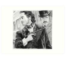 Sherlock Holmes & Doctor Watson Art Print