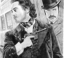 Sherlock Holmes & Doctor Watson by PhoebeAnnabel