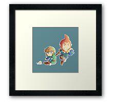 Legend of Zelda: Skyward Sword chibi Link and Groose Framed Print