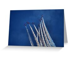 Line Up Arrows Greeting Card