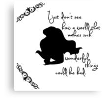 Disney Princesses: Ariel (The Little Mermaid) *Black version* Canvas Print