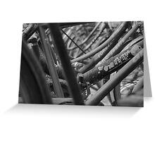 Beijing black and white  Greeting Card