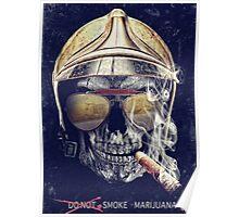 Old Skull Poster