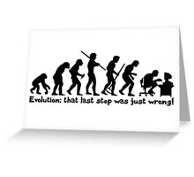 Technology Evolution Greeting Card