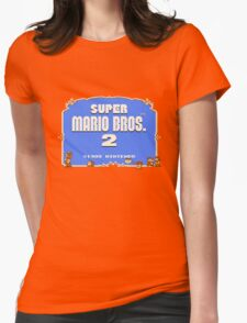 Super Mario Bros. 2 Title Screen Womens Fitted T-Shirt