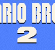 Super Mario Bros. 2 Title Screen Sticker