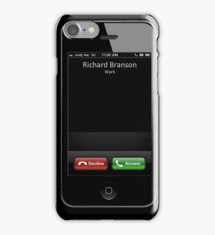 Famous Names Inbound Caller - Richard Branson iPhone Case/Skin