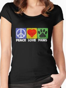 Peace Love Paws Women's Fitted Scoop T-Shirt