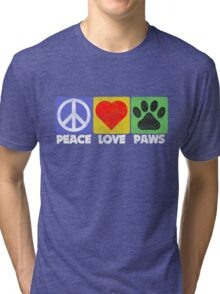 Peace Love Paws Tri-blend T-Shirt