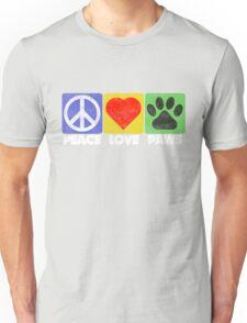 Peace Love Paws Unisex T-Shirt