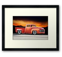 1956 Ford F100 Custom Pick-Up Truck III Framed Print