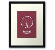 Minimalist 'Rose' Poster Framed Print