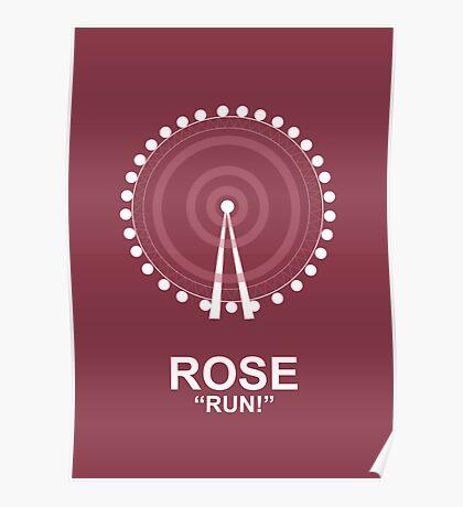 Minimalist 'Rose' Poster Poster