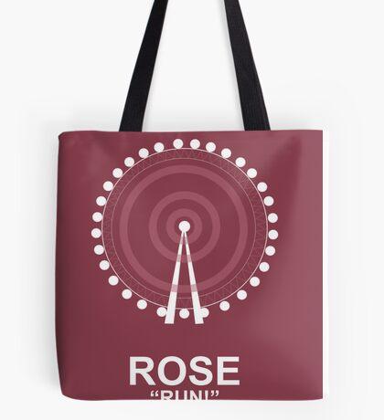 Minimalist 'Rose' Poster Tote Bag