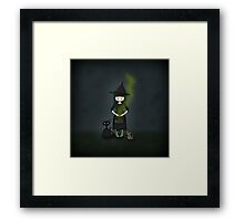 Whimsical Little Witch Framed Print