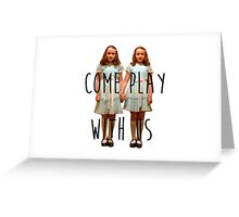Come play with us Greeting Card