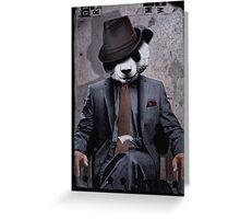 Gangster Panda Greeting Card