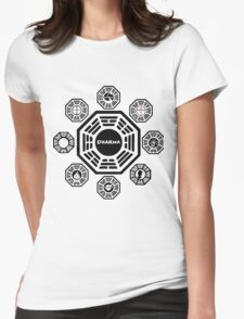 Lost Dharma Station Womens Fitted T-Shirt