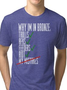 Why Im in Bronze Colors Tri-blend T-Shirt