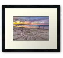 Sand Sunrays Framed Print