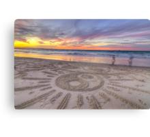 Sand Sunrays Canvas Print