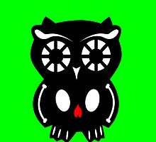 Skull Owl/ green by D-Vega
