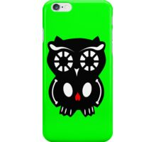 Skull Owl/ green iPhone Case/Skin