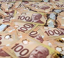 100 Canadian dollar banknotes. by FER737NG