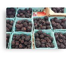 Farmer's Market Blackberries Canvas Print