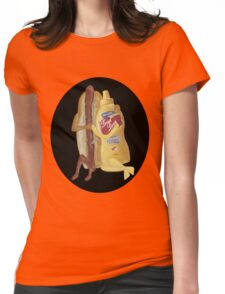 HOT DOG!WE GO TOGETHER EVERLASTING LOVE TEE SHIRT Womens Fitted T-Shirt