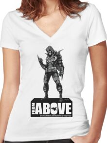 From Above Comic Book - character 01 Women's Fitted V-Neck T-Shirt