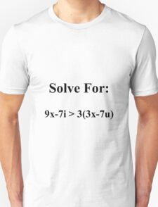 """""""I Love You"""" Solution Cute and Funny Math T Shirt or Sticker T-Shirt"""