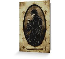 M'sieur - character portrait Greeting Card