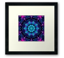 Mirror of Blue and Purple Kaleidoscope 04 Framed Print