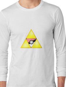 Zelda Triforce ( courage, wisdom, power, and pokemon ) Long Sleeve T-Shirt