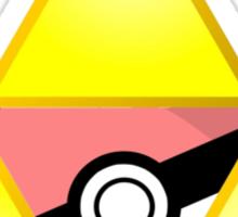 Zelda Triforce ( courage, wisdom, power, and pokemon ) Sticker