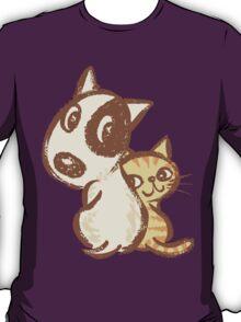 Dog and cat are turning around T-Shirt