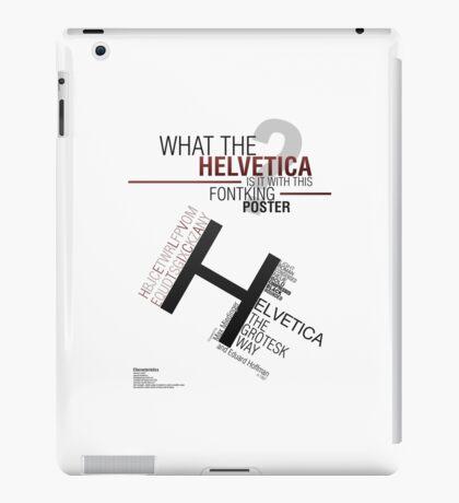 Helvetica Poster iPad Case/Skin