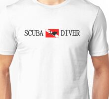 Scuba Diving and Flag with Diver Unisex T-Shirt