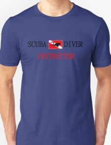Scuba Diving Instructor and Flag with Diver T-Shirt