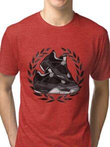 Air Jordan IV (Oreo Inspired Kicks) Tri-blend T-Shirt
