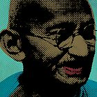 Mahatma Gandhi Pop Art Pictures by thejoyker1986